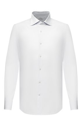 Мужская хлопковая сорочка BAGUTTA белого цвета, арт. 386_EBD/07767 | Фото 1