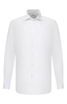 Мужская хлопковая сорочка BAGUTTA белого цвета, арт. 386_EBD/02418 | Фото 1