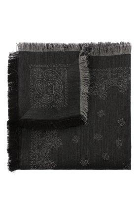 Мужской платок из шерсти и шелка BRIONI серого цвета, арт. 071E00/0942P | Фото 1