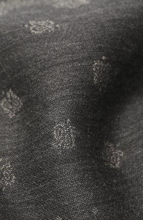 Мужской платок из шерсти и шелка BRIONI серого цвета, арт. 071E00/0942P | Фото 2