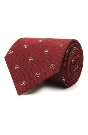 Мужской галстук из шелка и хлопка BRIONI бордового цвета, арт. 062H00/09454 | Фото 1