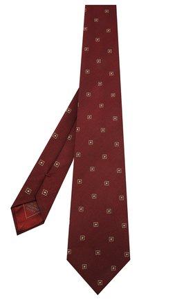 Мужской галстук из шелка и хлопка BRIONI бордового цвета, арт. 062H00/09454 | Фото 2