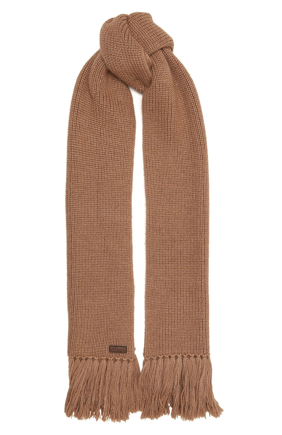 Мужской шарф из шерсти и шелка BRIONI бежевого цвета, арт. 03MF0L/09K32 | Фото 1