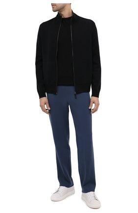 Мужской брюки из кашемира и шерсти BRIONI голубого цвета, арт. UMGL0L/09K08 | Фото 2