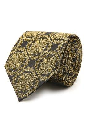 Мужской шелковый галстук VERSACE желтого цвета, арт. ICR7001/A236236 | Фото 1