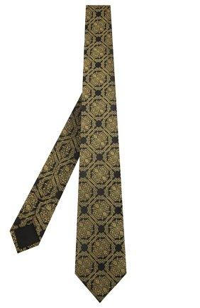Мужской шелковый галстук VERSACE желтого цвета, арт. ICR7001/A236236 | Фото 2