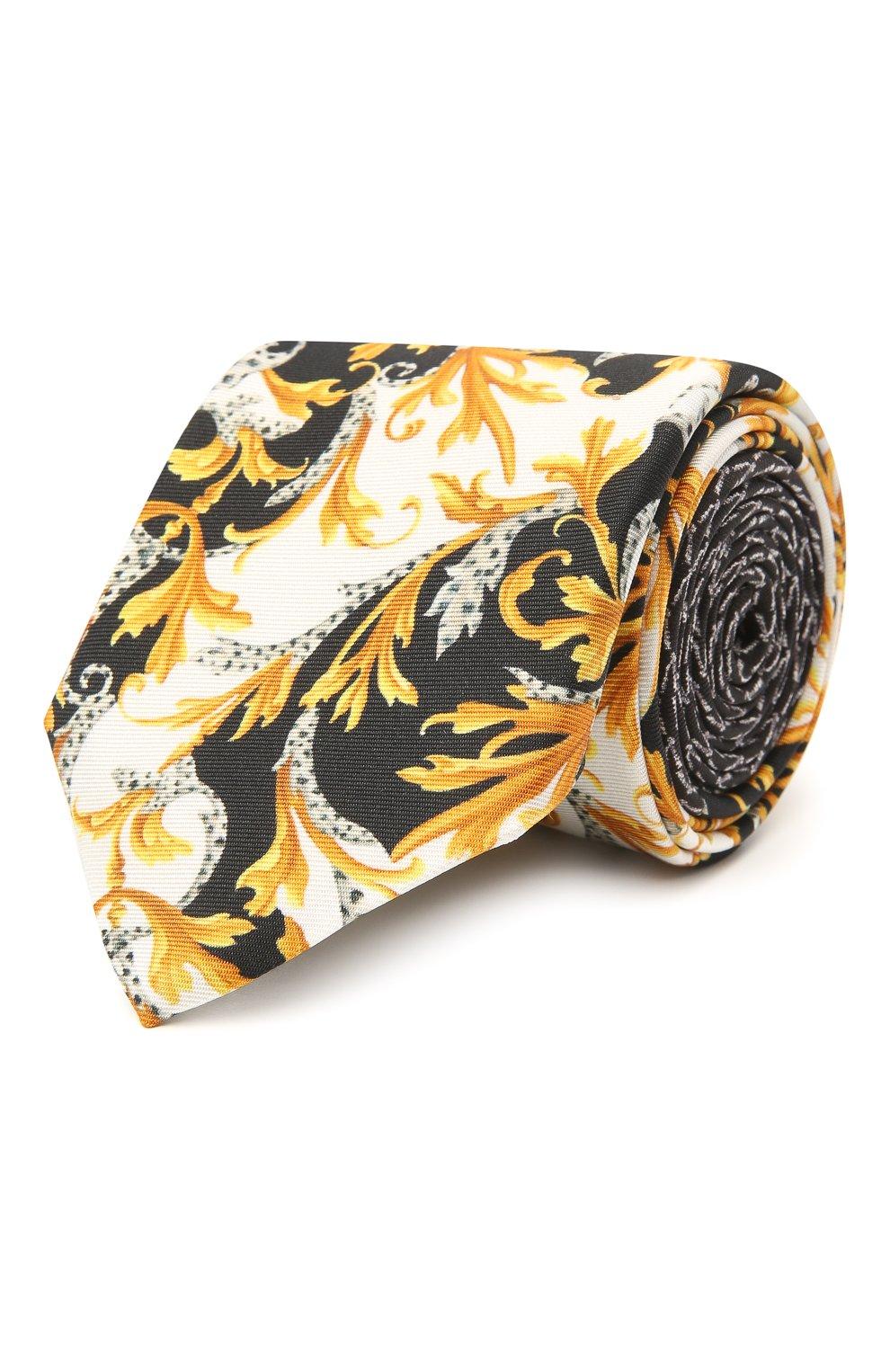 Мужской шелковый галстук VERSACE разноцветного цвета, арт. ICR7001/A236228   Фото 1