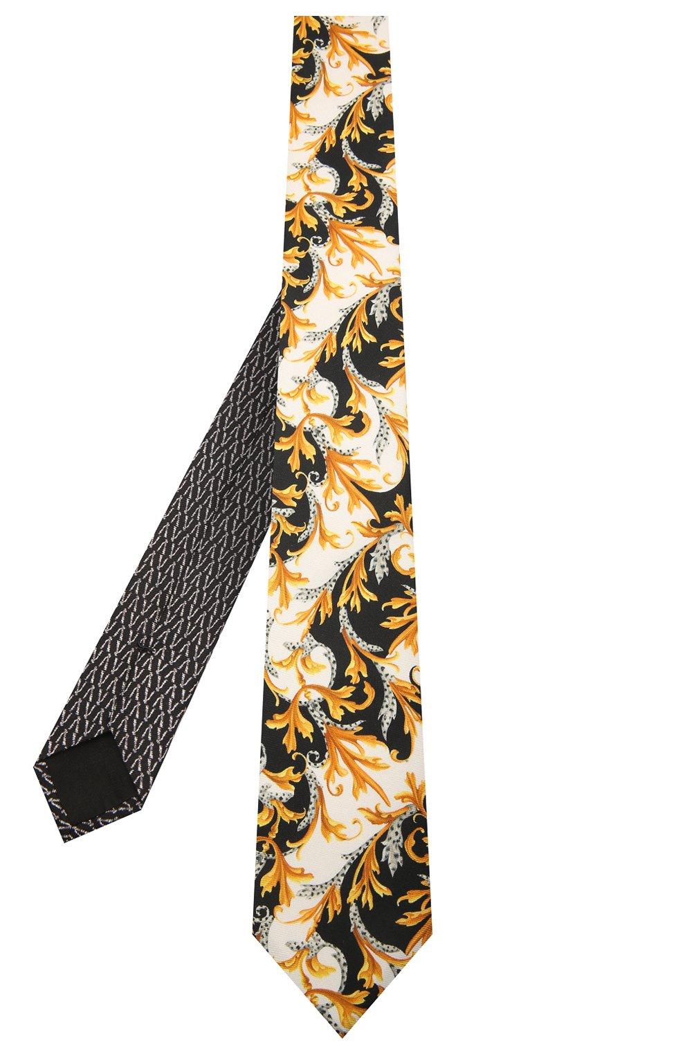 Мужской шелковый галстук VERSACE разноцветного цвета, арт. ICR7001/A236228   Фото 2