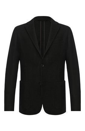 Мужской пиджак из хлопка и кашемира ERMENEGILDO ZEGNA темно-зеленого цвета, арт. UVC61/SDF   Фото 1