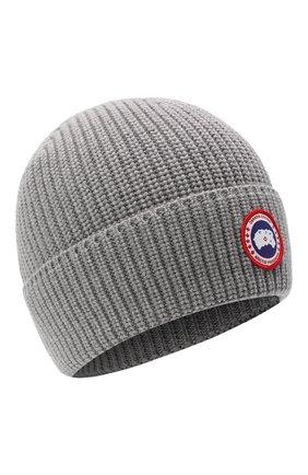 Мужская шерстяная шапка CANADA GOOSE серого цвета, арт. 5026M | Фото 1
