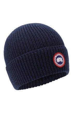 Мужская шерстяная шапка CANADA GOOSE синего цвета, арт. 5026M | Фото 1