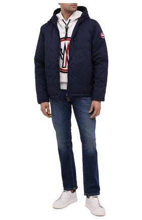 Мужская пуховая куртка lodge CANADA GOOSE темно-синего цвета, арт. 5078M   Фото 2