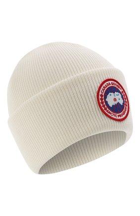 Мужская шерстяная шапка CANADA GOOSE белого цвета, арт. 6936M | Фото 1