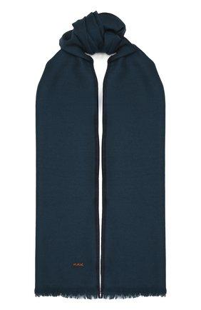 Мужской шарф из шерсти и кашемира ZEGNA COUTURE бирюзового цвета, арт. Z8L61/28G | Фото 1