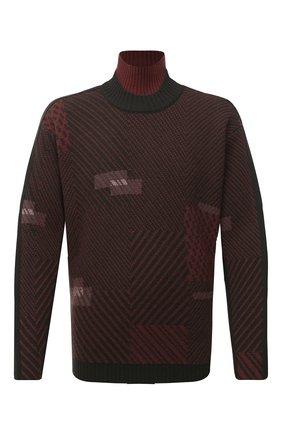 Мужской шерстяной свитер ZEGNA COUTURE хаки цвета, арт. CVNG2/625   Фото 1