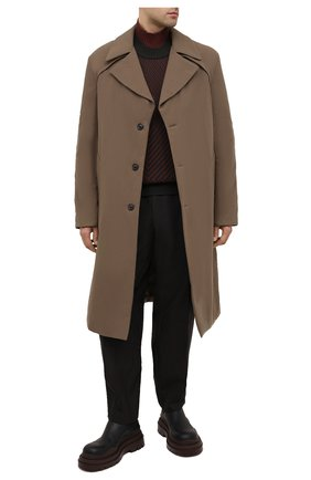 Мужской шерстяной свитер ZEGNA COUTURE хаки цвета, арт. CVNG2/625   Фото 2