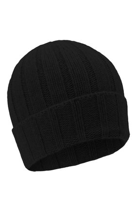 Мужская кашемировая шапка DANIELE FIESOLI черного цвета, арт. WS 8003 | Фото 1