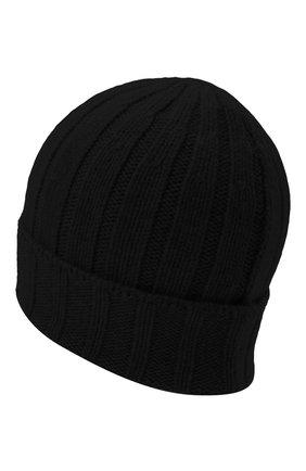 Мужская кашемировая шапка DANIELE FIESOLI черного цвета, арт. WS 8003 | Фото 2