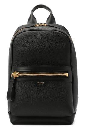 Мужской кожаный рюкзак TOM FORD черного цвета, арт. H0438T-LCL037 | Фото 1
