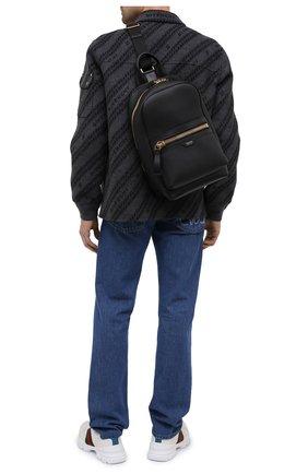 Мужской кожаный рюкзак TOM FORD черного цвета, арт. H0438T-LCL037 | Фото 2
