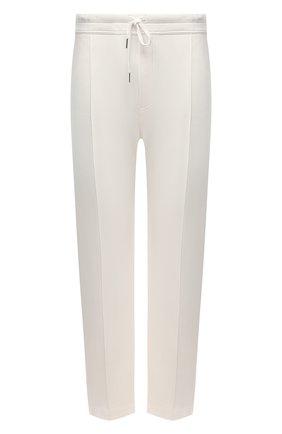 Мужские брюки TOM FORD белого цвета, арт. BV271/TFJ997 | Фото 1 (Длина (брюки, джинсы): Стандартные; Материал внешний: Синтетический материал, Вискоза; Случай: Повседневный; Стили: Кэжуэл)