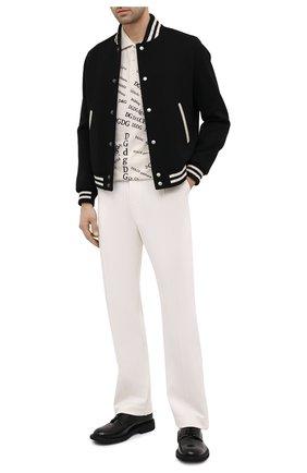 Мужские брюки TOM FORD белого цвета, арт. BV271/TFJ997 | Фото 2 (Длина (брюки, джинсы): Стандартные; Материал внешний: Синтетический материал, Вискоза; Случай: Повседневный; Стили: Кэжуэл)
