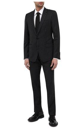 Мужской костюм из шерсти и хлопка DOLCE & GABBANA черного цвета, арт. GK0EMT/FR3FJ | Фото 1