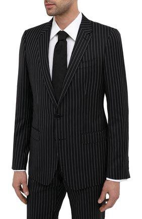 Мужской костюм из шерсти и хлопка DOLCE & GABBANA черного цвета, арт. GK0EMT/FR3FJ | Фото 2