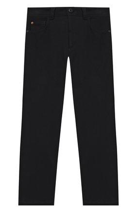 Детского хлопковые брюки LORO PIANA темно-синего цвета, арт. FAL3723   Фото 1