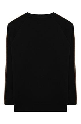 Детский шерстяной пуловер FENDI черного цвета, арт. JUG003/A8L9/8A-12+   Фото 2