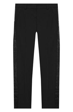 Детские брюки KARL LAGERFELD KIDS черного цвета, арт. Z14J23   Фото 1