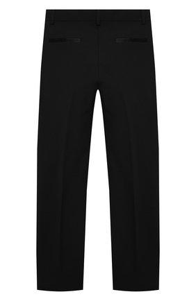 Детские брюки KARL LAGERFELD KIDS черного цвета, арт. Z14J23   Фото 2