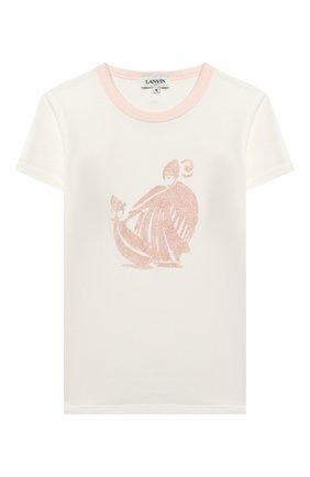 Детская футболка LANVIN белого цвета, арт. N15000 | Фото 1