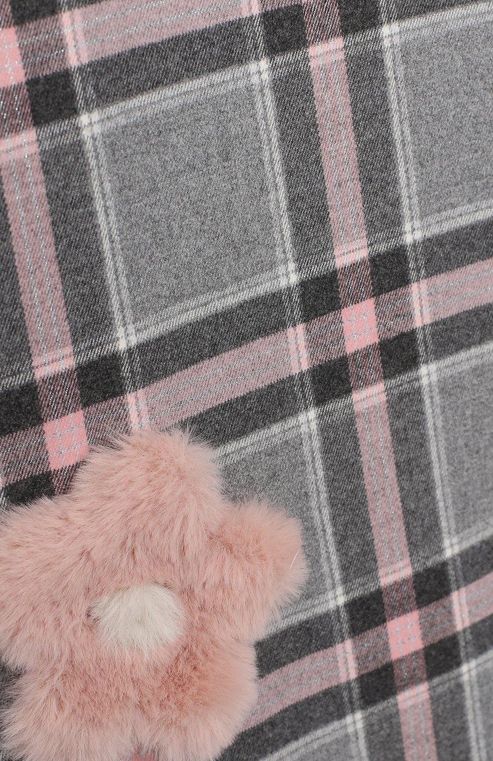 Детское платье IL GUFO розового цвета, арт. A20VL415W3048/2A-4A   Фото 3 (Рукава: Короткие; Случай: Повседневный; Материал внешний: Синтетический материал; Материал подклада: Синтетический материал; Девочки Кросс-КТ: Платье-одежда)
