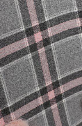 Детское платье IL GUFO розового цвета, арт. A20VL415W3048/5A-8A | Фото 3 (Рукава: Длинные; Случай: Повседневный; Материал внешний: Синтетический материал; Материал подклада: Синтетический материал)