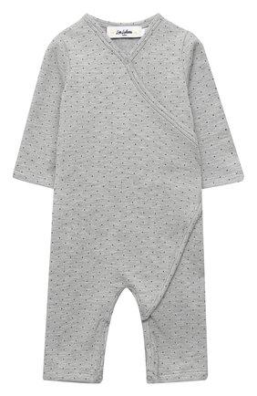 Детский хлопковый комбинезон LES LUTINS PARIS серого цвета, арт. 20H500/PYJAMA 20H1 | Фото 1