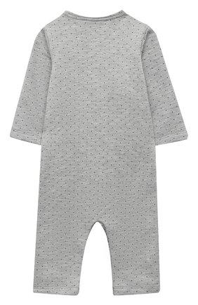 Детский хлопковый комбинезон LES LUTINS PARIS серого цвета, арт. 20H500/PYJAMA 20H1 | Фото 2