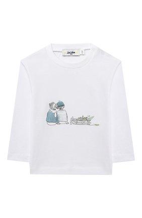 Детский хлопковый лонгслив LES LUTINS PARIS белого цвета, арт. 20H368/TEE SHIRT ML | Фото 1