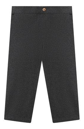 Детские хлопковые брюки LES LUTINS PARIS серого цвета, арт. 20H357/LE0N | Фото 1