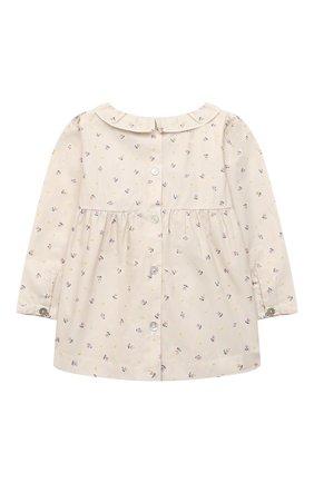 Детский хлопковая блузка LES LUTINS PARIS бежевого цвета, арт. 20H324/ASTRID | Фото 2