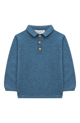 Детский кашемировый пуловер LES LUTINS PARIS синего цвета, арт. 20H100/PHIL | Фото 1