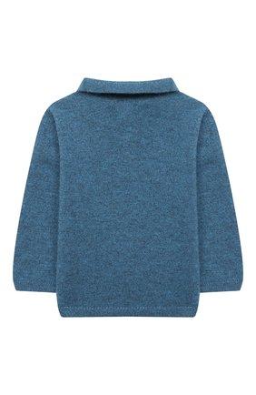 Детский кашемировый пуловер LES LUTINS PARIS синего цвета, арт. 20H100/PHIL | Фото 2