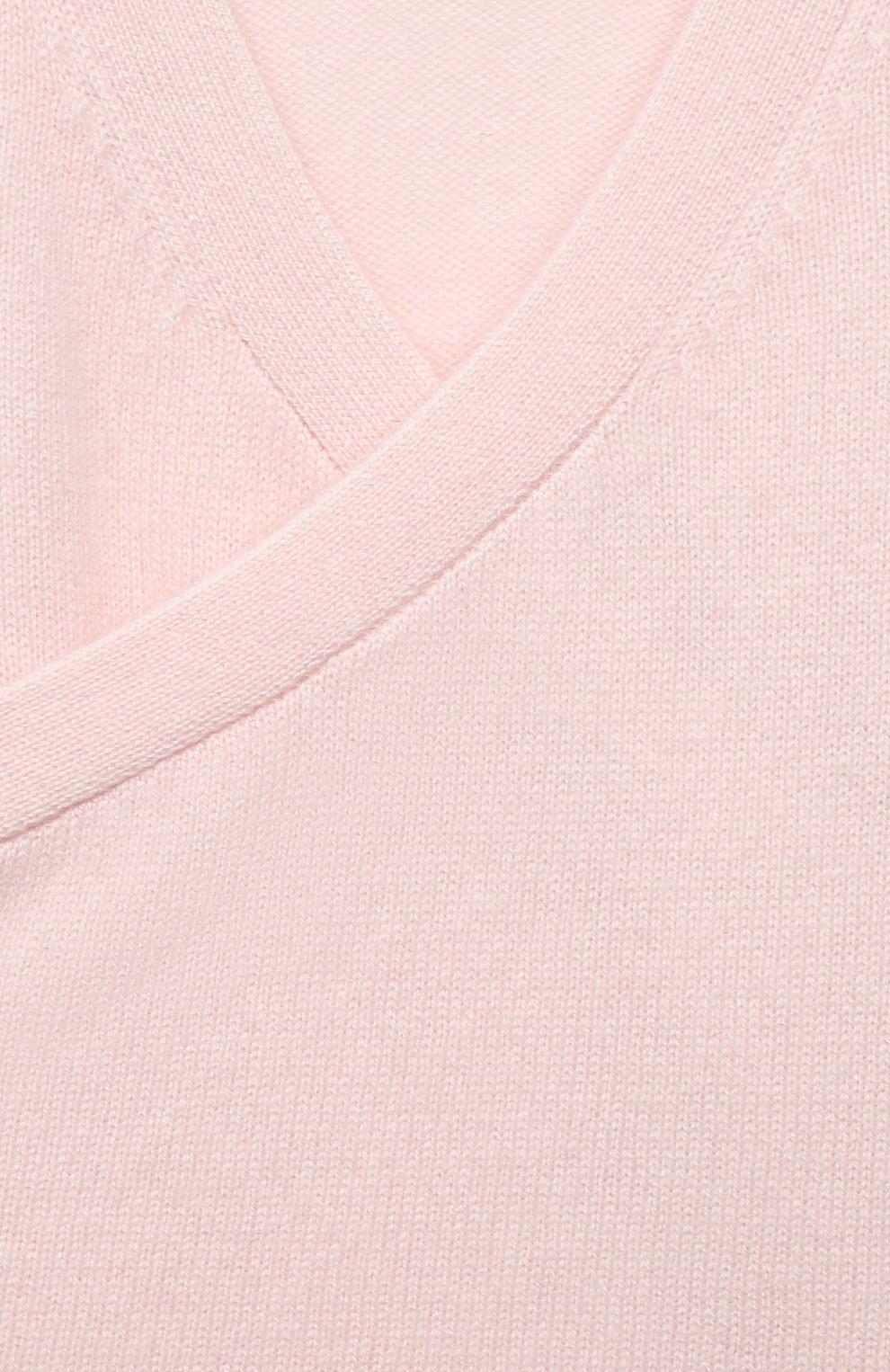 Детский кашемировый кардиган LES LUTINS PARIS светло-розового цвета, арт. 20H093/CAR0LINE | Фото 3