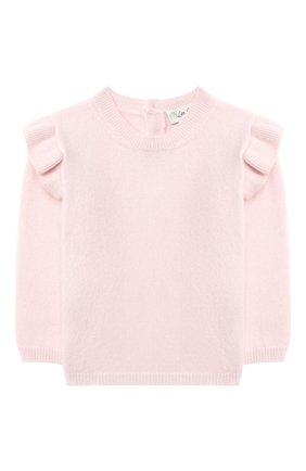 Детский кашемировый пуловер LES LUTINS PARIS светло-розового цвета, арт. 20H079/FL0RIANE | Фото 1