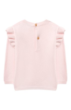 Детский кашемировый пуловер LES LUTINS PARIS светло-розового цвета, арт. 20H079/FL0RIANE | Фото 2
