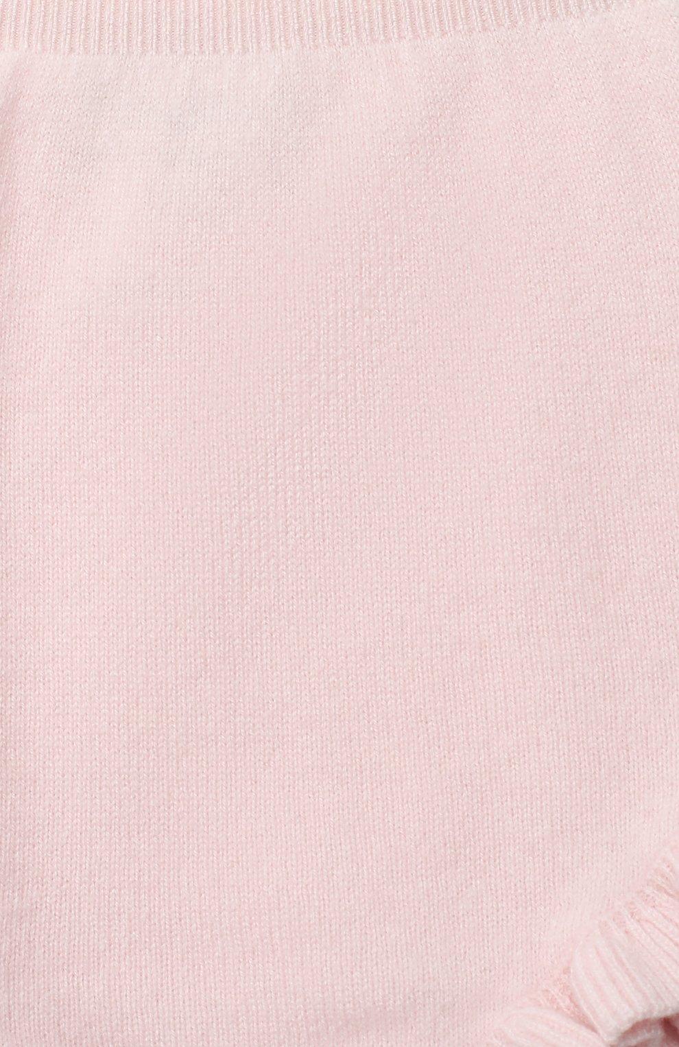 Детские кашемировые шорты LES LUTINS PARIS светло-розового цвета, арт. 20H077/AGNES | Фото 3 (Материал внешний: Шерсть, Кашемир; Ростовка одежда: 9 мес | 74 см, 18 мес | 86 см, 24 мес | 92 см, 3 мес | 62 см, 6 мес | 68 см)