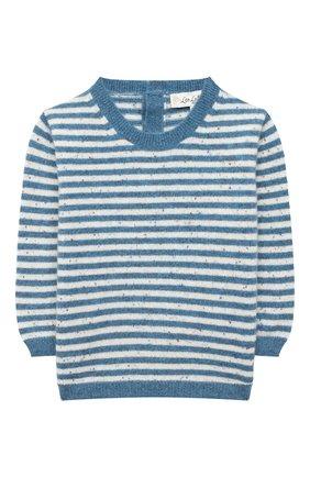 Детский кашемировый пуловер LES LUTINS PARIS синего цвета, арт. 20H054/CAMILLE | Фото 1