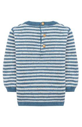 Детский кашемировый пуловер LES LUTINS PARIS синего цвета, арт. 20H054/CAMILLE | Фото 2