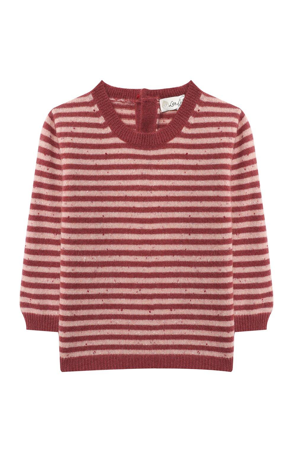 Детский кашемировый пуловер LES LUTINS PARIS бордового цвета, арт. 20H054/CAMILLE   Фото 1