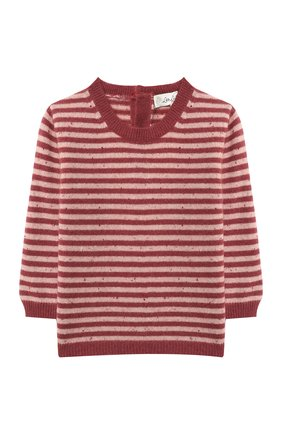 Детский кашемировый пуловер LES LUTINS PARIS бордового цвета, арт. 20H054/CAMILLE | Фото 1